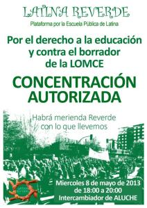 Concentración 8M, cartel (Large)